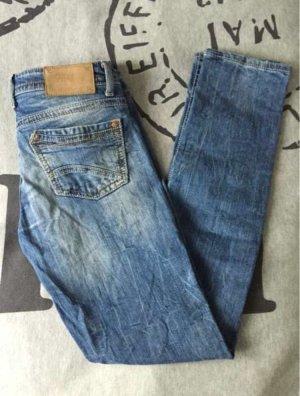 Fishbone Jeans slim gris ardoise-bleuet