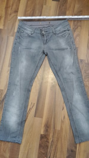 1 NY tee Jeans vita bassa argento Tessuto misto