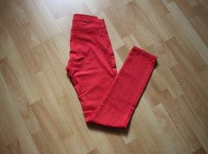 Fishbone Jeans Jeggings rot rosa XS 34 Röhrenjeans skinny slim fit