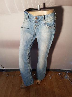 Fishbone Jeans Knopfleiste Hüftig bleached Gr 30 (42)