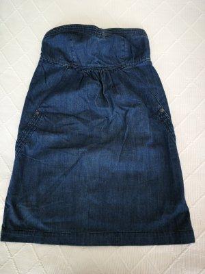 Fishbone Denim Dress blue