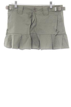 Fishbone Mini-jupe vert olive style décontracté