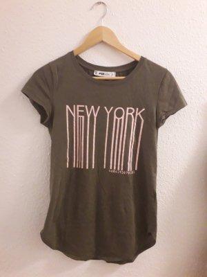 Fishbone Shirt Größe S khaki  tshirt new york