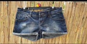 Fishbone Pantalón corto de tela vaquera gris pizarra