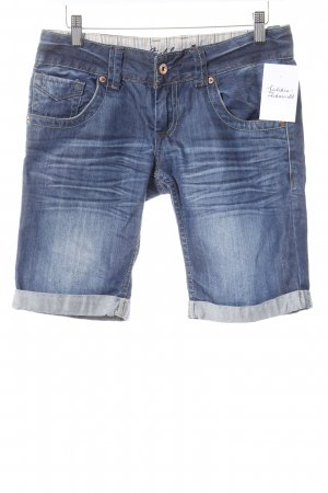 Fishbone Shorts dunkelblau-hellblau Street-Fashion-Look