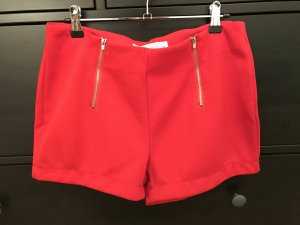 Fishbone Shorts Hotpants rot mit Reißverschlüsse M 38