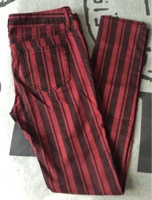 Fishbone Sister Jeans - gestreift rot-schwarz