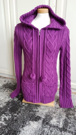 Fishbone Wool Jacket violet