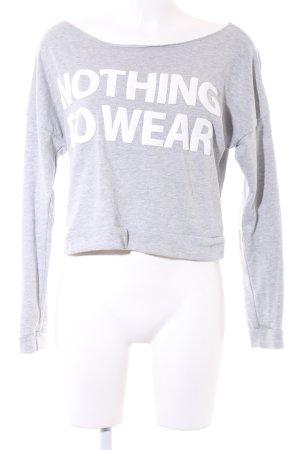 Fishbone Sweatshirt hellgrau Schriftzug gedruckt 90ies-Stil