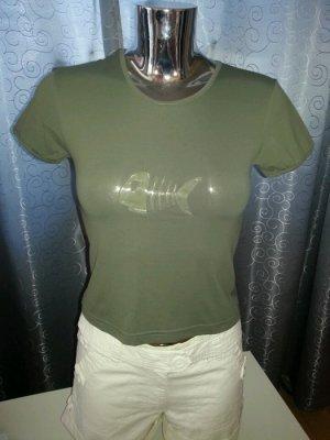 Fishbone T-Shirt khaki reflektierendes Logo Gr. XS