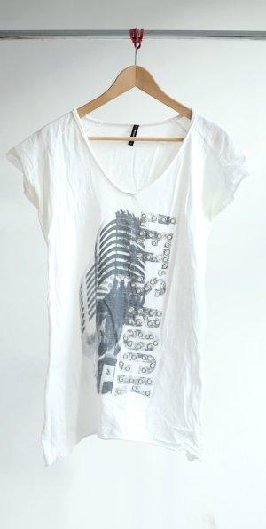 Fishbone T-shirt mit Aufdruck