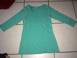 Fishbone T-Shirt türkis in Größe L