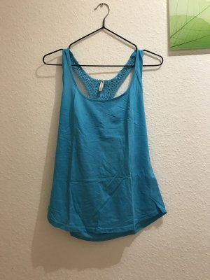 Fishbone Tanktop blau S 36 Stickerei