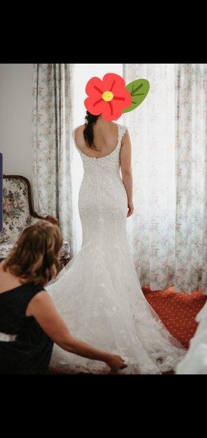 Wedding Dress natural white-white cotton