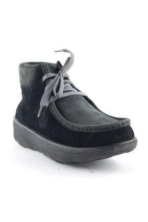Fitflop Schnür-Stiefeletten schwarz klassischer Stil