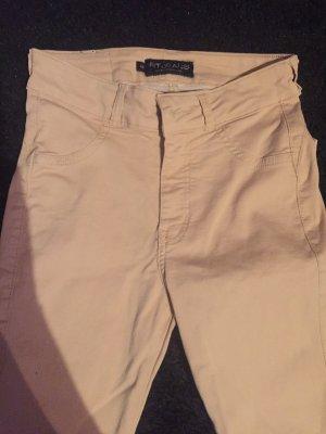 Pantalone a sigaretta crema-beige
