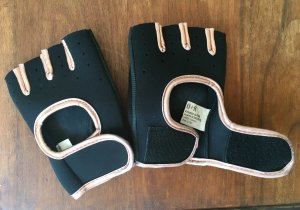 Fingerless Gloves black-rose-gold-coloured