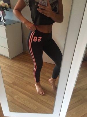 Fitness Leggins Grau Lachs