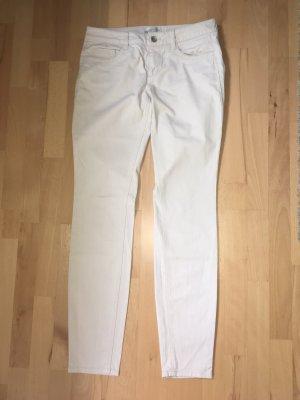 Five-Pocket Baumwollhose in beige