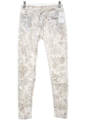 Pantalon cinq poches motif embelli style extravagant