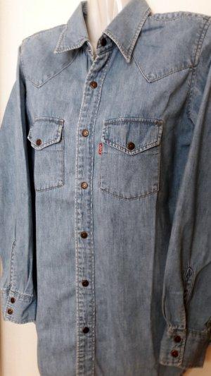 Levi's Camicia denim blu acciaio-blu pallido Cotone