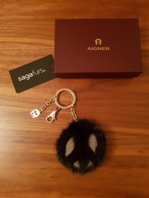 Aigner Key Chain black-grey brown