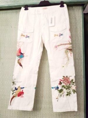 Fixpreis # CLOSED # ausgefallene Hose mit auswendiger Stickerei # NEU # D 38/D40