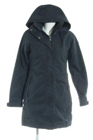 Fjällräven Manteau à capuche bleu foncé style décontracté