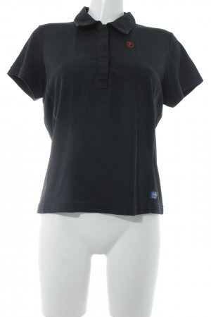 Fjällräven Polo-Shirt schwarz Casual-Look