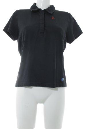 Fjällräven Polo-Shirt schwarz Casual-Look