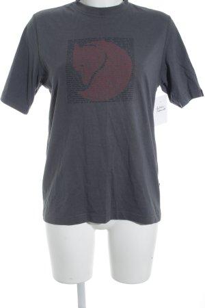 Fjällräven T-Shirt Schriftzug gedruckt Maskulin-Look