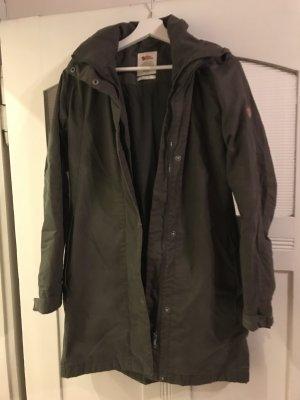 Fjällräven Manteau d'hiver gris vert tissu mixte