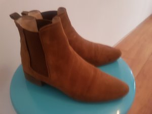 Zara Booties light brown-brown