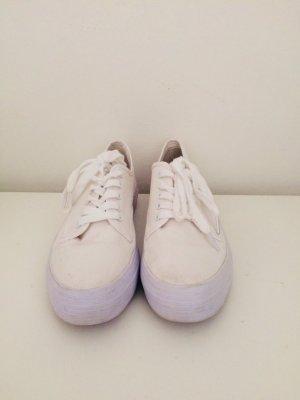 Blink Lace-Up Sneaker white linen