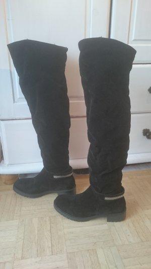 Flache Overknee Stiefel