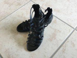 Flache Sandale schwarz