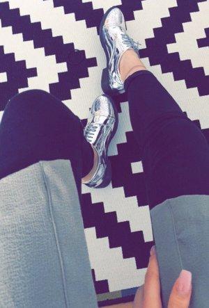 Asos Lace Shoes silver-colored-black
