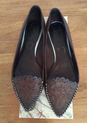 Flache Schuhe von yin, Braun, Größe 40, Leder