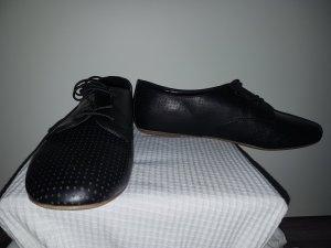 Flache Schwarze Schuhe Gr. 39