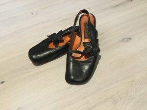 Sandalo comodo nero Pelle
