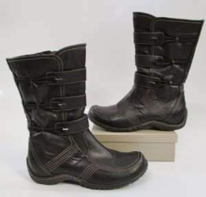 Marco Tozzi Buskins dark brown-brown imitation leather