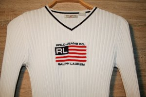 Flagge-Pullover von Polo Jeans Company Ralph Lauren in Größe S.