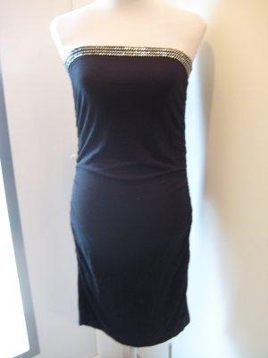 Flame Bandeau Kleid schwarz mit silber Gr.L 40/42