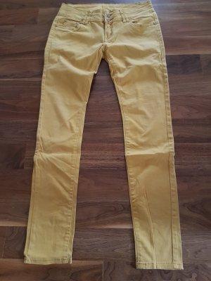 Flame Pantalone a vita bassa giallo