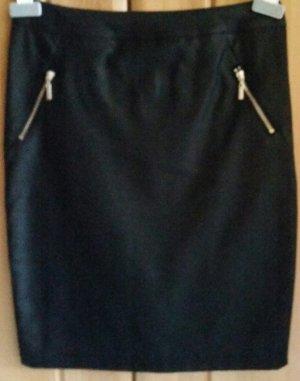 Flame Falda de cuero de imitación negro