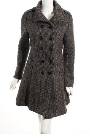 Flame Mantel schwarz-grau Karomuster klassischer Stil