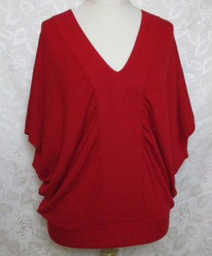 Flame Fine Knitted Cardigan red viscose