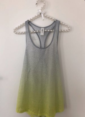 flame Top Sporttop grau grün neon oversized loose fit Gr. S Fitness Gym