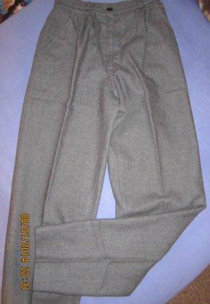 Flanell-Bundfaltenhose-70er-Jahre-Vintage-mittel-silbergrau-meliert-Gr-34-neuwertig