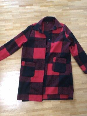 Flanell Hemd Blogger Maxi Karo Mantel Jacke XS 32 34